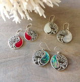 Dragonfly Coin Earrings