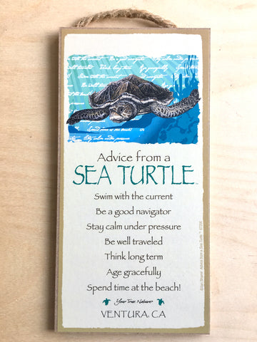 Advice From A Sea Turtle Sign