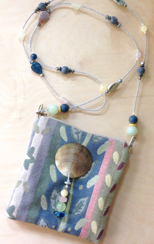 Natural Shore Beaded Strap Purse