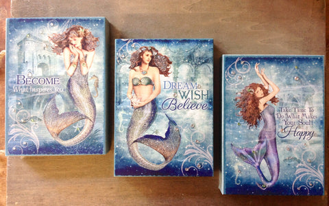 Dreamy Mermaid Box Canvas