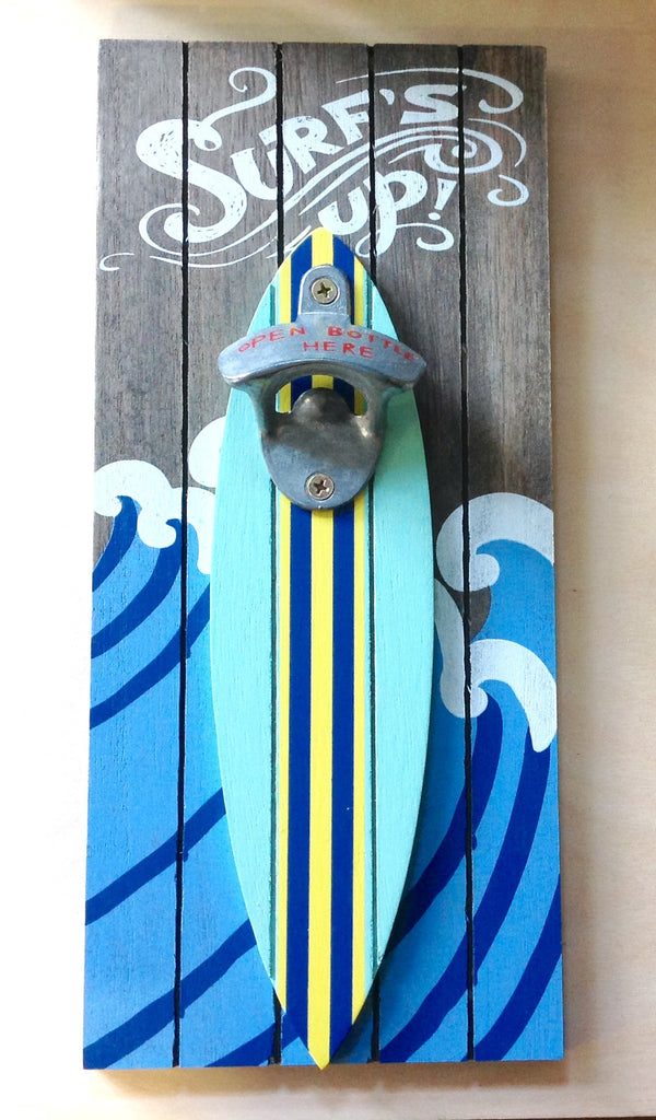 Surf's Up Wall Bottle Opener