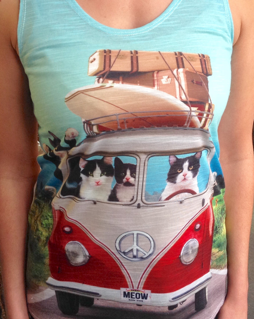 Roadtrippin Cats Tank