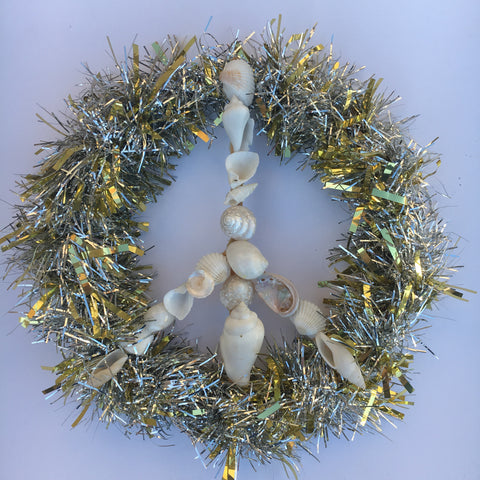 Seashell Peace Sign Wreath