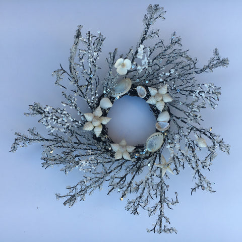 Beach Flowers Snowflake Wreath