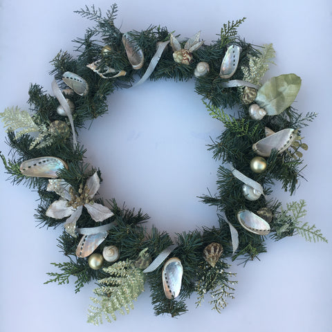 Seashell Ribbon Wreath