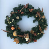 Fall Elegance Shell Wreath