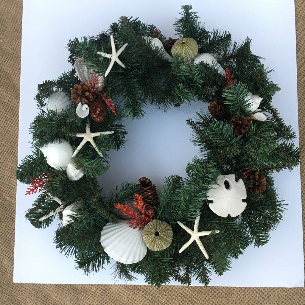 Holiday Christmas Shell Wreath