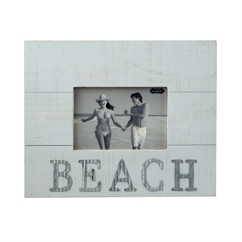 Tin Beach Wooden Frame