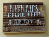 Mermaid Wood Magnets