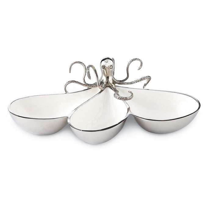Octopus Section Metal Serving Bowl