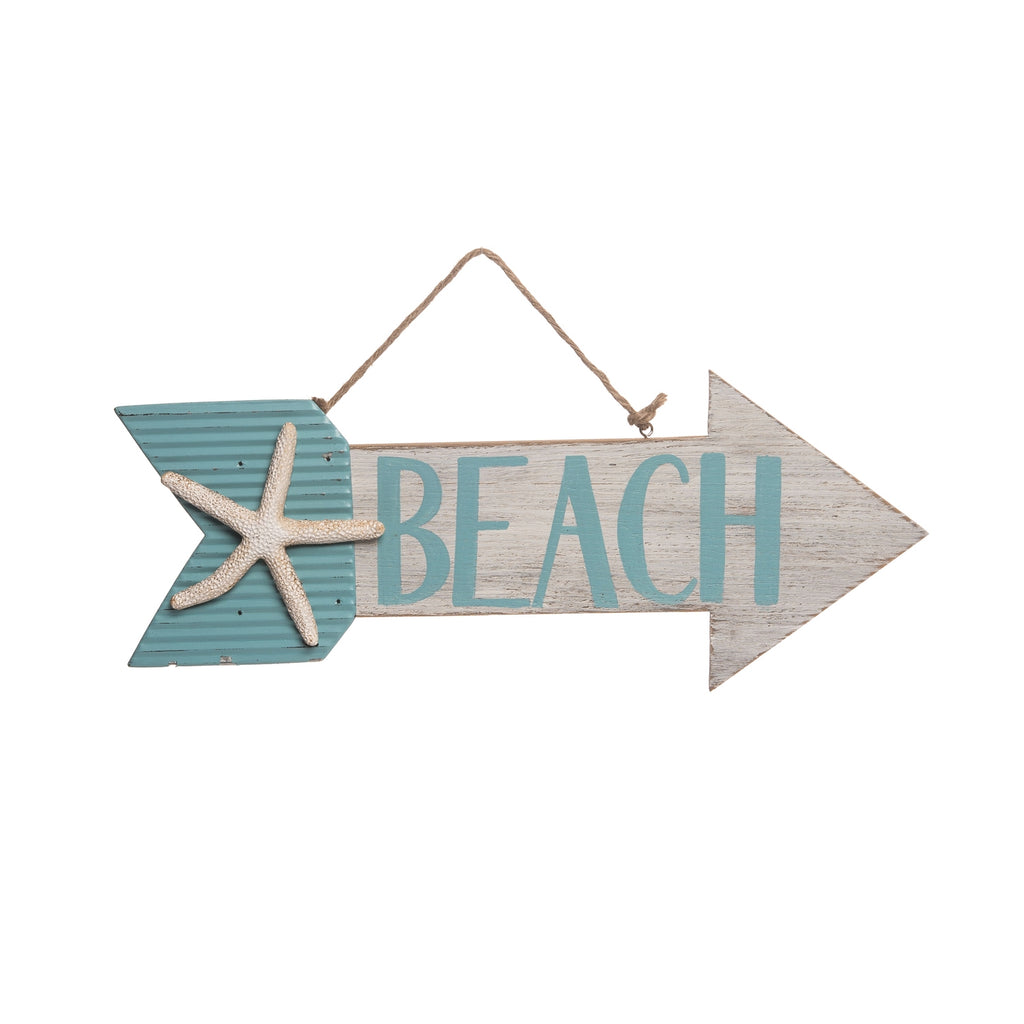 Starfish Beach Arrow Sign