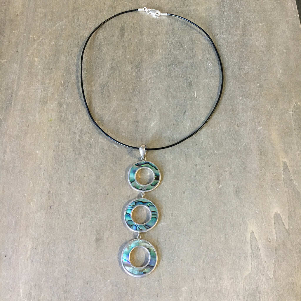 img necklace abalone products things ventura sea circle triple