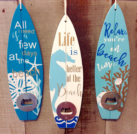 Sea Life Surfboard Bottle Opener