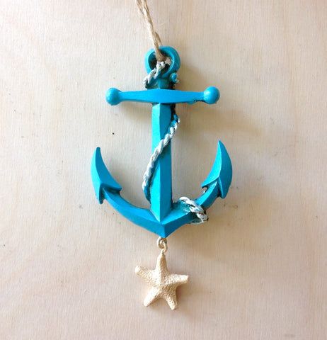 Anchor Starfish Ornament