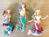 Mermaid Coral Reef Christmas Ornament