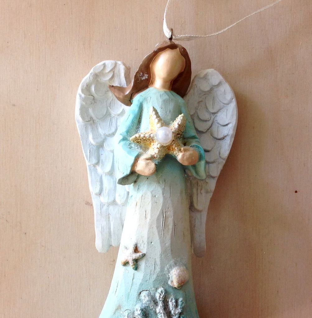 Dreamy Coral Angel Ornament