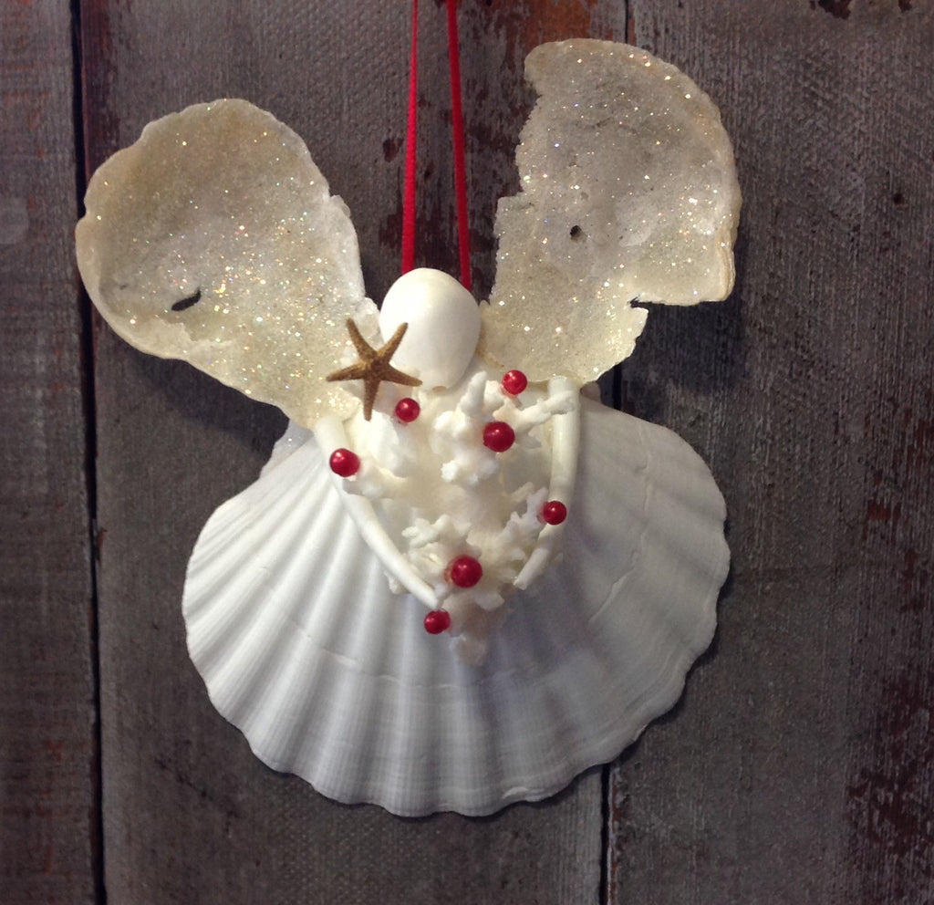 Lace Coral Christmas Tree Angel