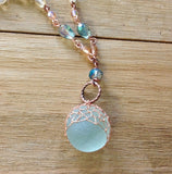 Mermaid's Crown Sea Glass Necklace