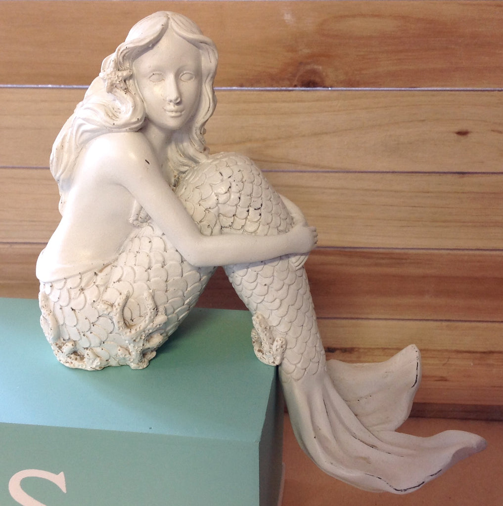 Coral Tail Mermaid Ledge Sitter