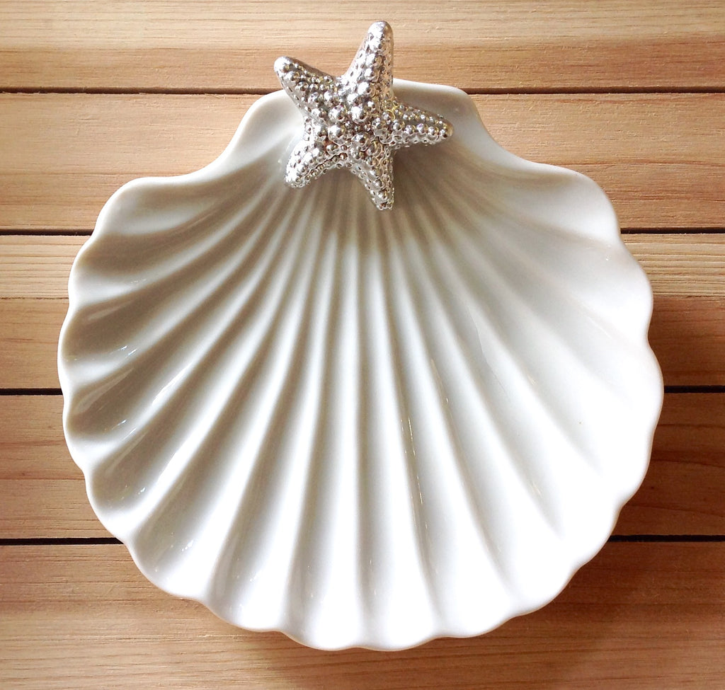 Scallop Shell Ceramic Dish