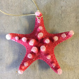 Tropical Snow Star Ornament