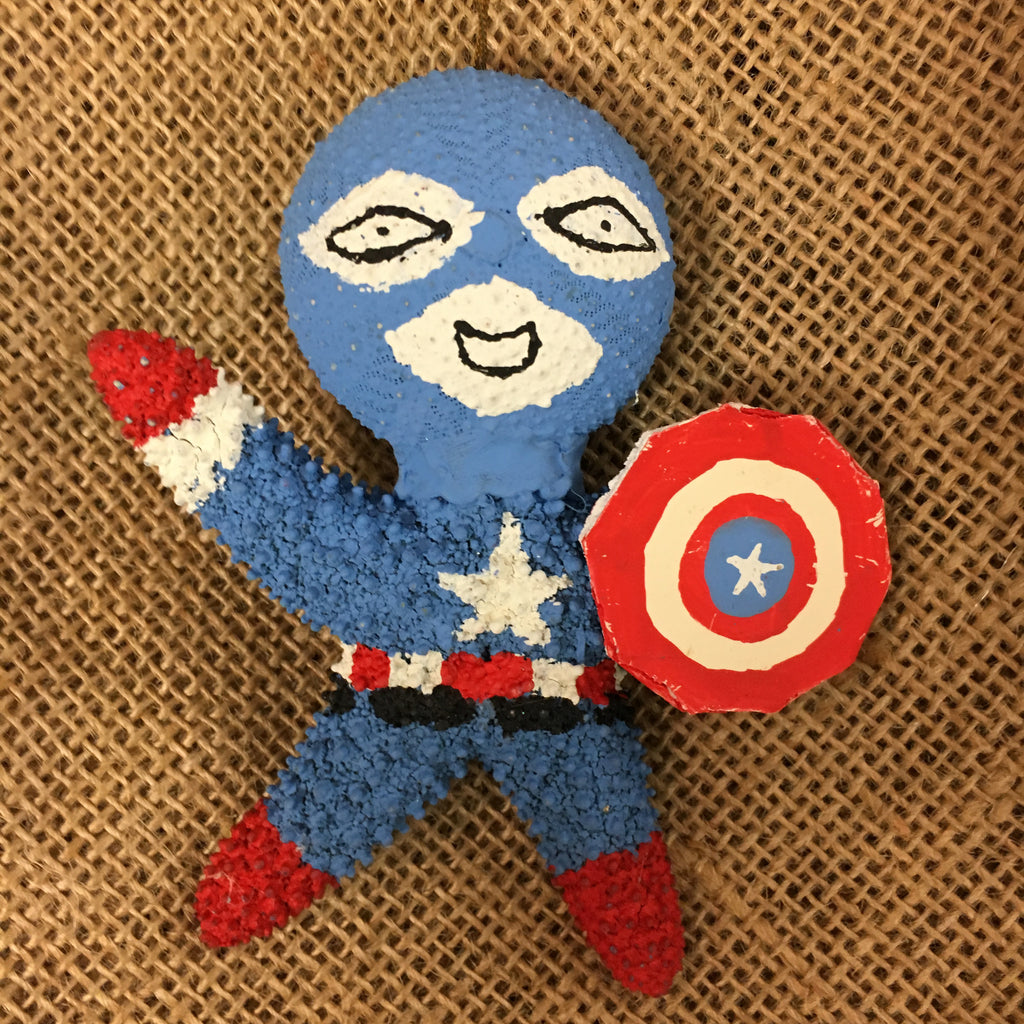 Starfish Captain America Ornament
