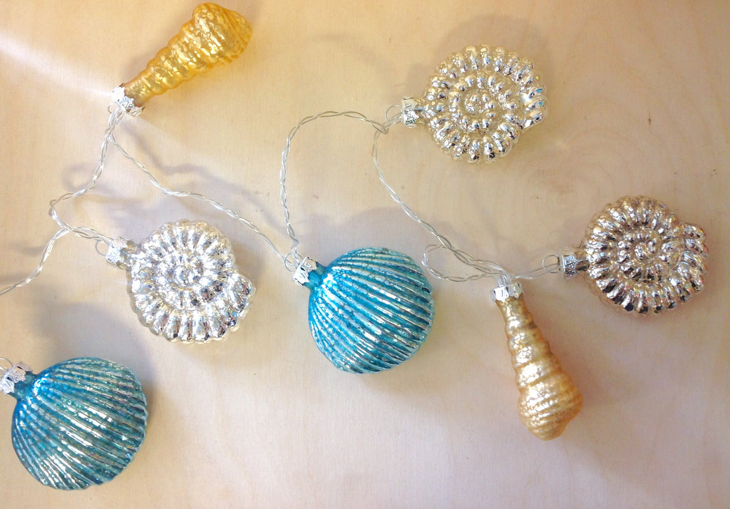 Sea-sons Greetings Seashell String Lights