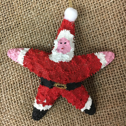 Big Belly Starfish Santa Ornament