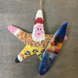 Surfer Santa Starfish Ornament