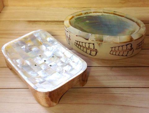 Mother of Pearl Inlayed Soap Dish
