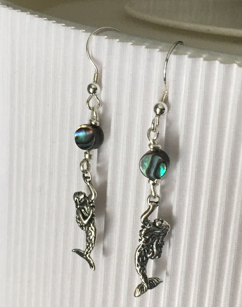 Mermaid Love Abalone Earrings