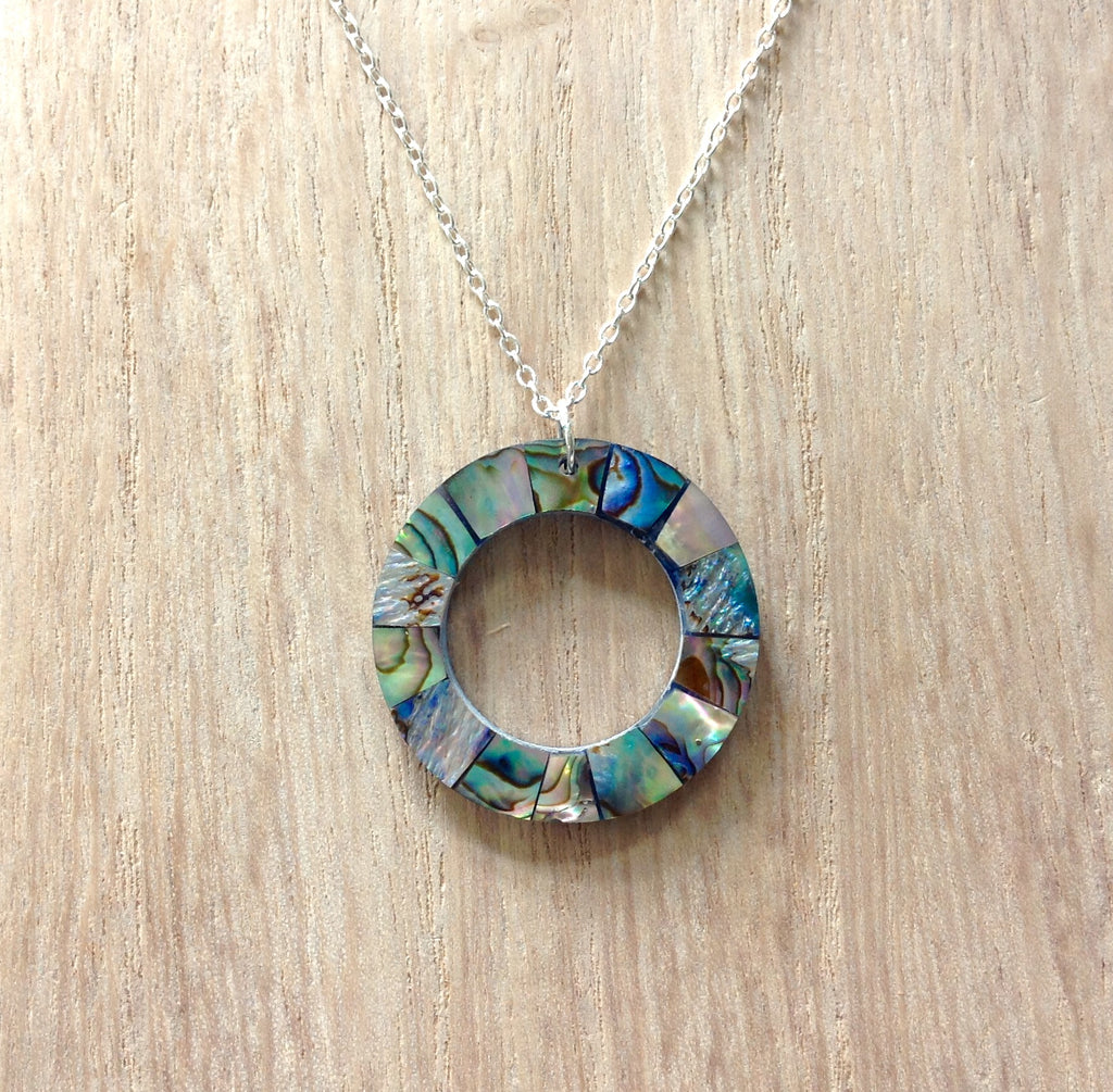 Abalone Ring Necklace