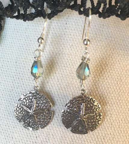 Sand Dollar Love Crystal Earrings