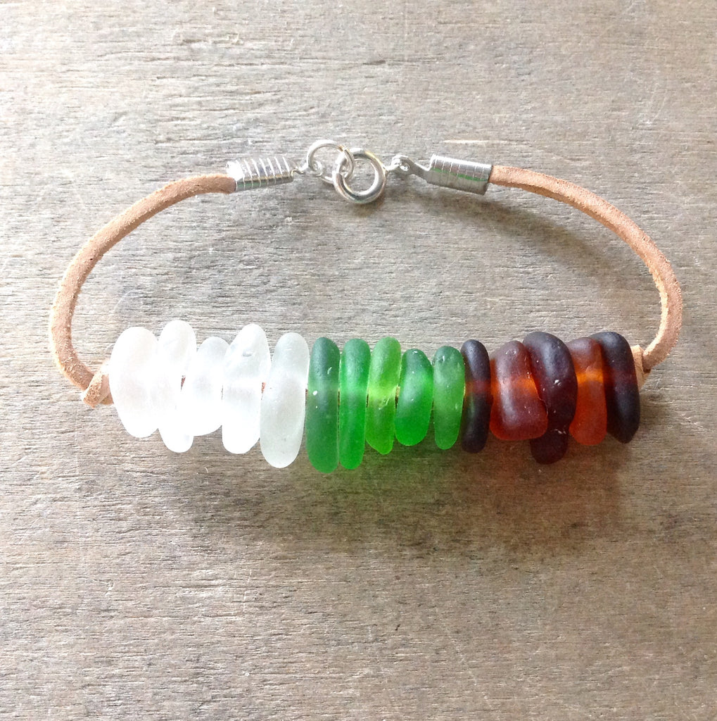 CA Seaglass Stacked Bracelet