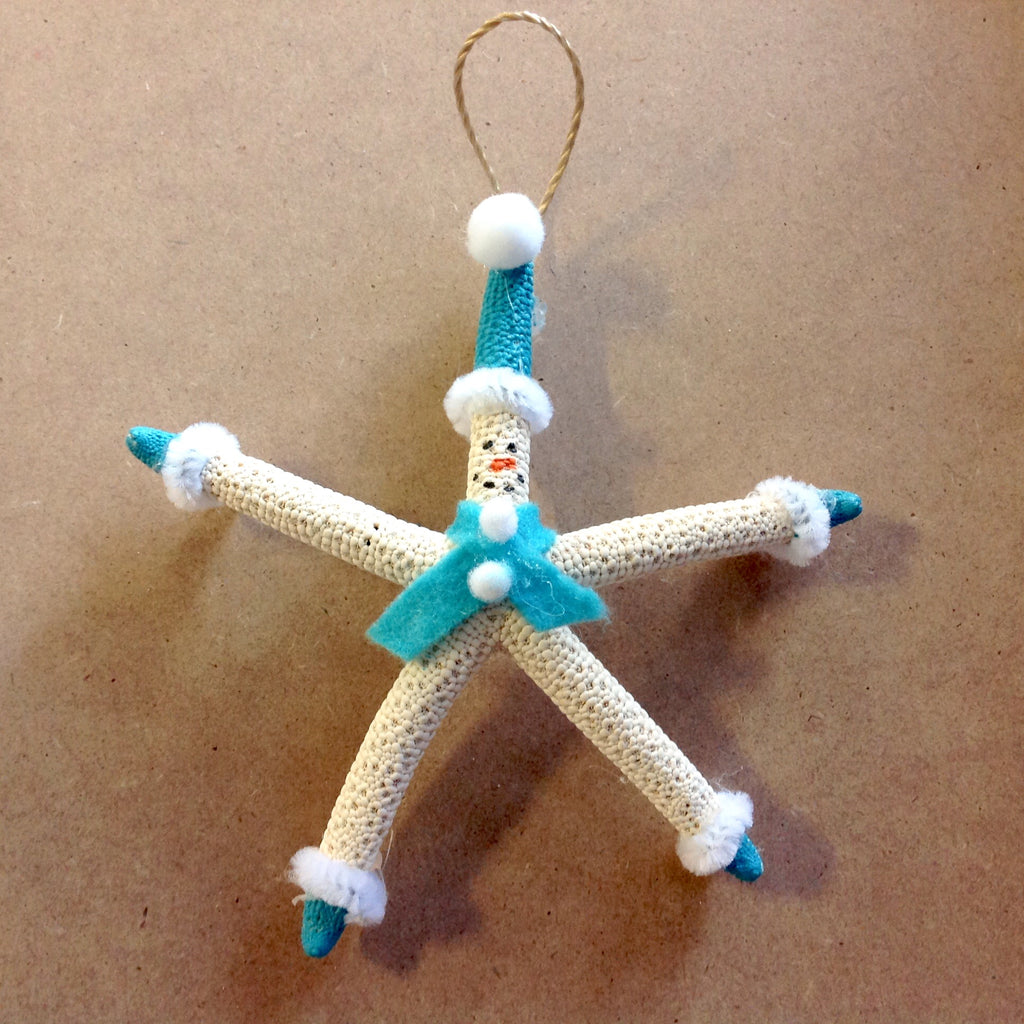 Frosty the Snowman Starfish Ornament