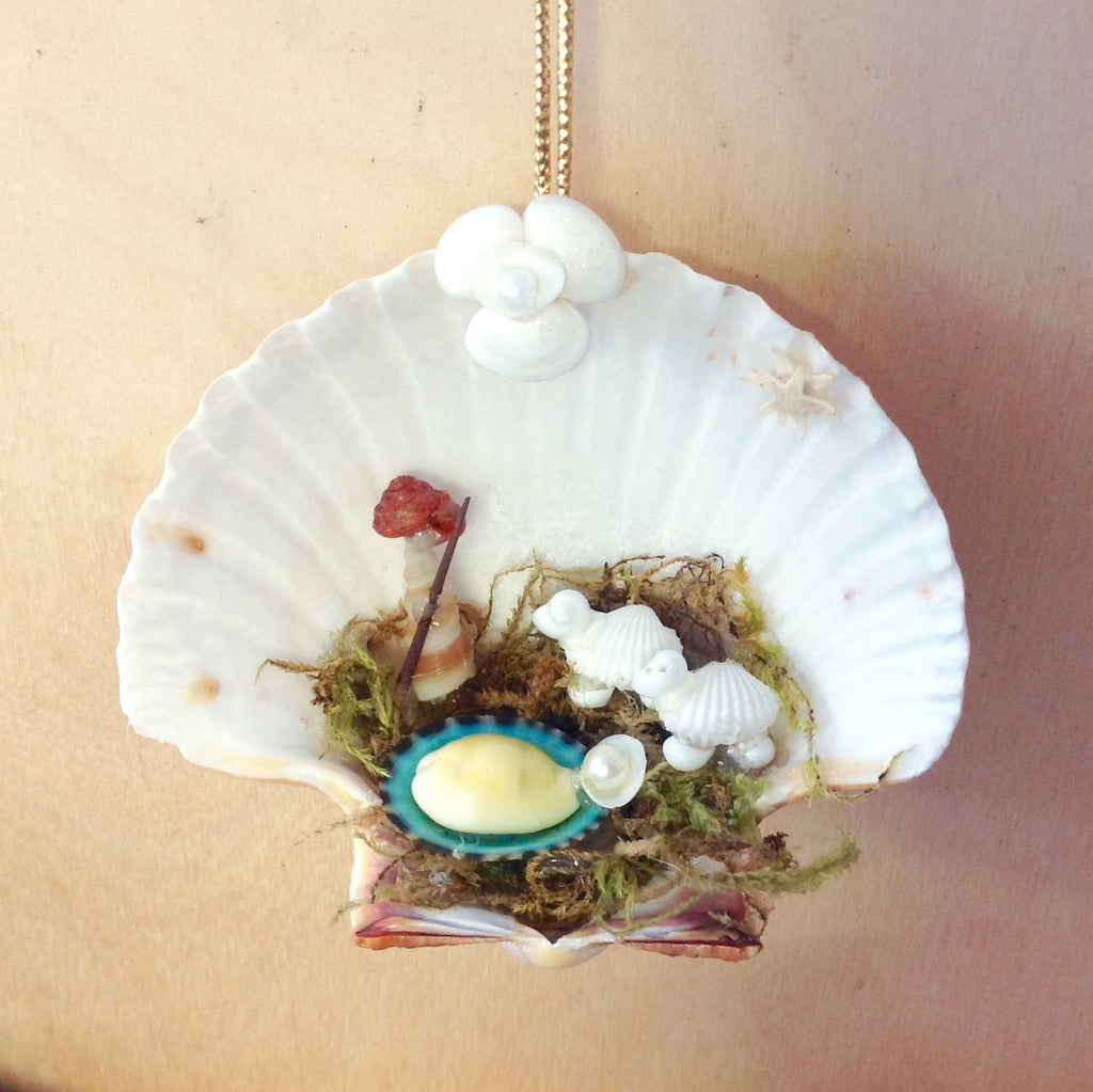 Little Shepherd Shell Manger Scene