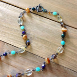 Jeweled Sea Glass Beaded Necklace
