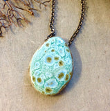 Artisan Ceramic Pendant Necklace
