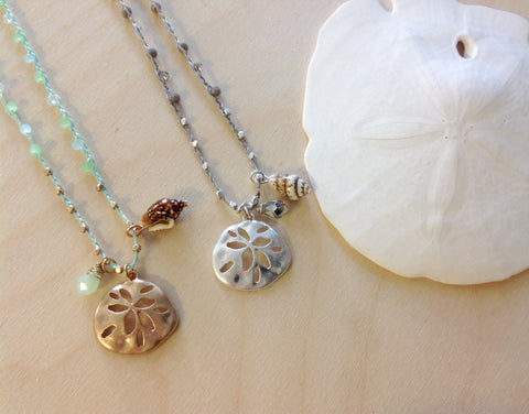 Sand Dollar Love Necklace