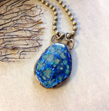Artisan Ceramic Large Pendant Necklace