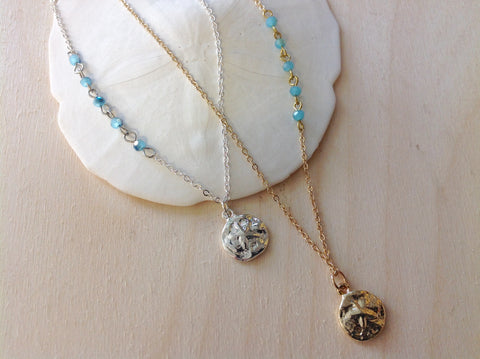 Sand Dollar Aqua Necklace