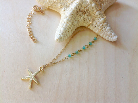 Golden Starfish Necklace