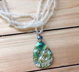 Teardrop Abalone Beaded Necklace