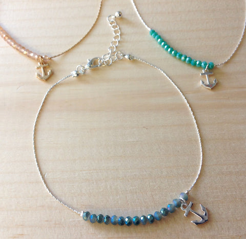 Crystal Anchor Anklet