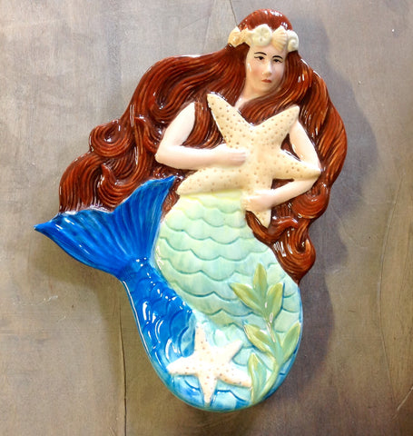 Mermaid Starfish Decorative Plate