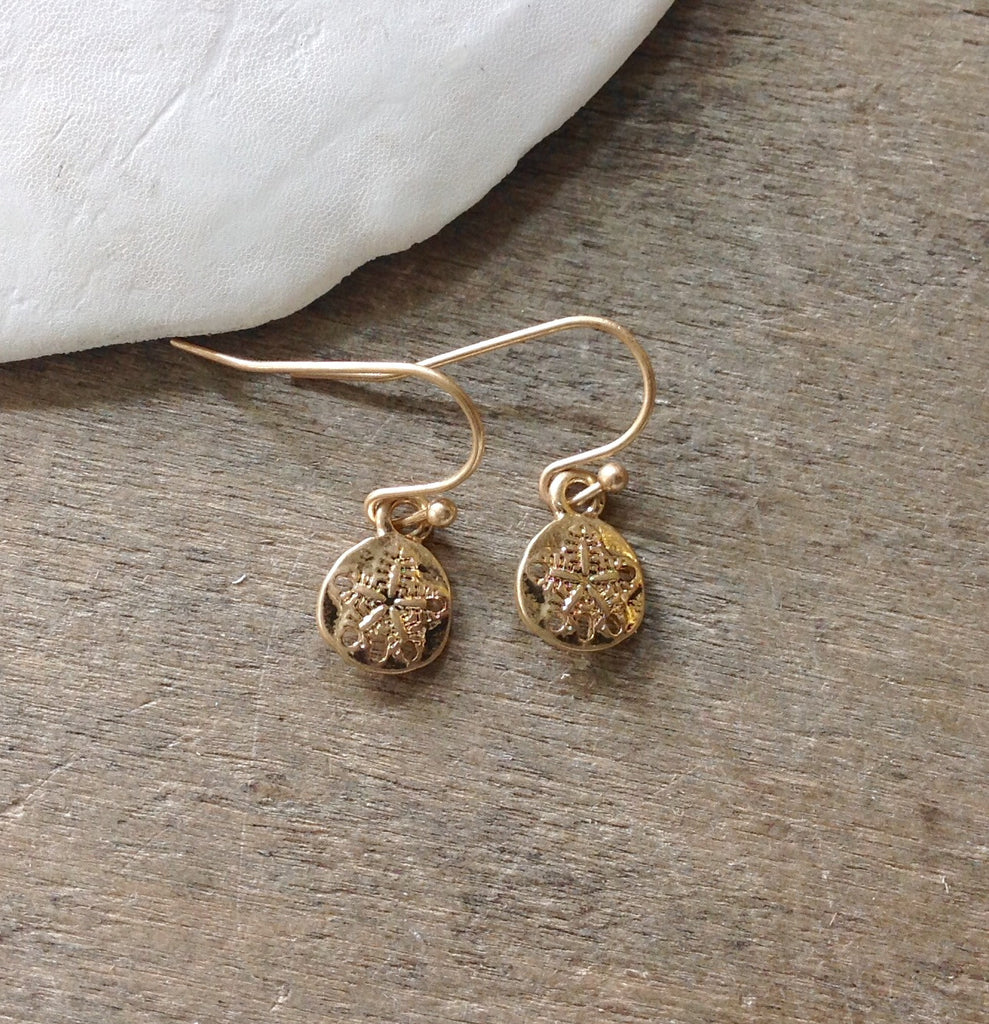 Dainty Sand Dollar Earrings