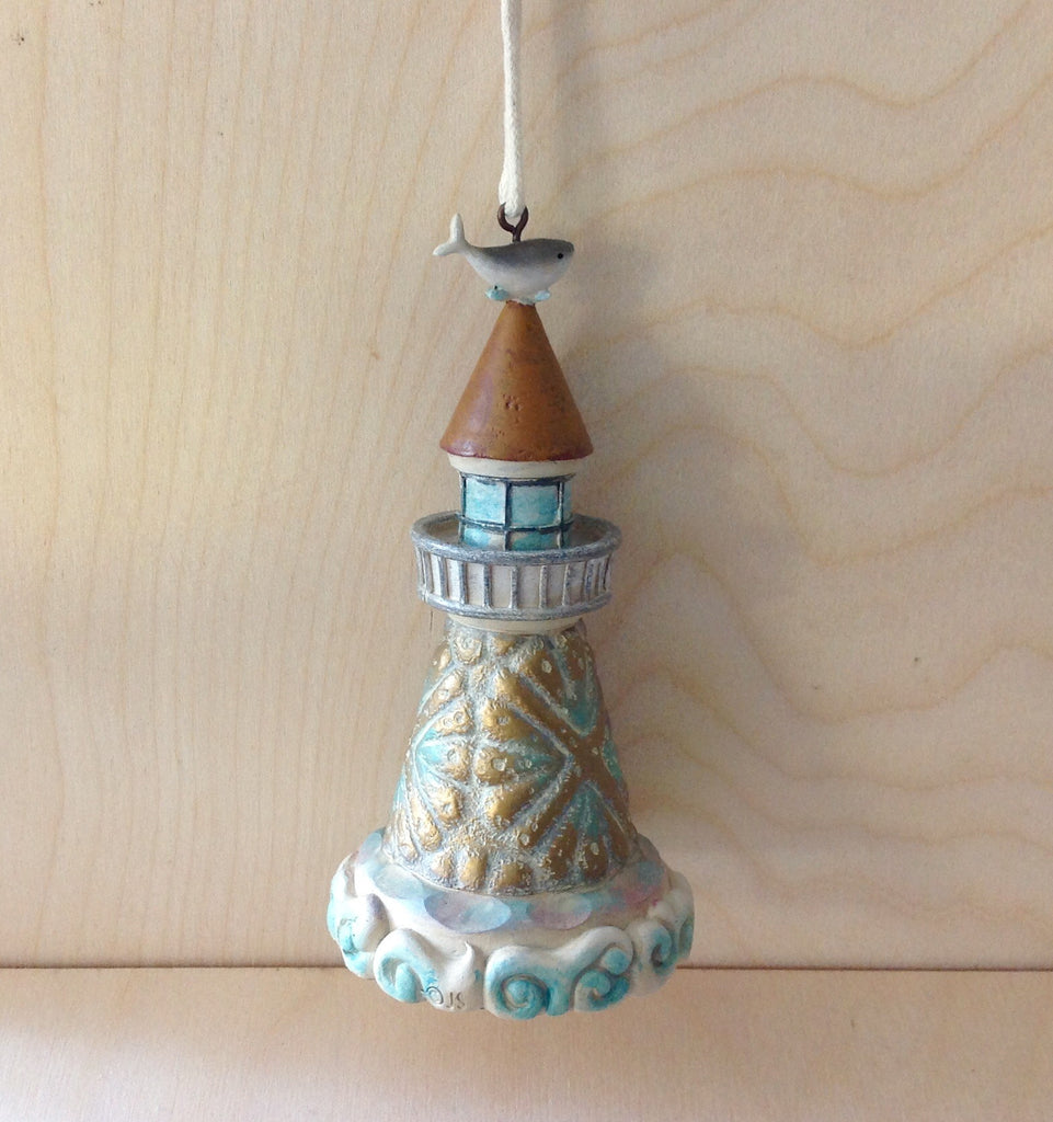 Fish Top Lighthouse Ornament