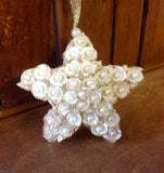 Clam Shell Sparkle Star Ornament