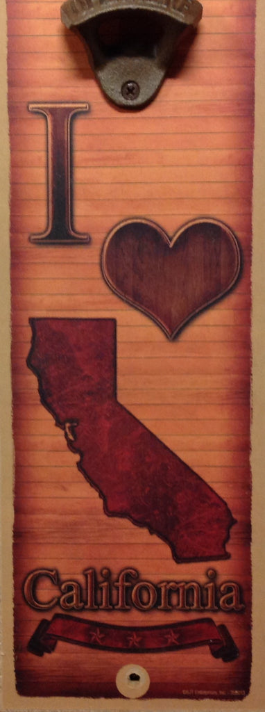 California Love Wall Bottle Opener