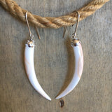 Pink Conch Tusk Earrings